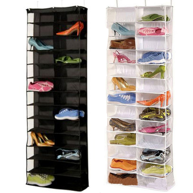 Nk Gozip Multilayers Shoes Storage Organizer 26 Pockets Polyester Hanging Bo Door Wall Mounted Closet