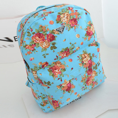 2015 New Korean Fashion Canvas Backpack Wholesale Manufacturers Rose