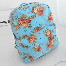 2015 Новый Корейский Моды Холст Рюкзак Оптовых Производителей Роза.
