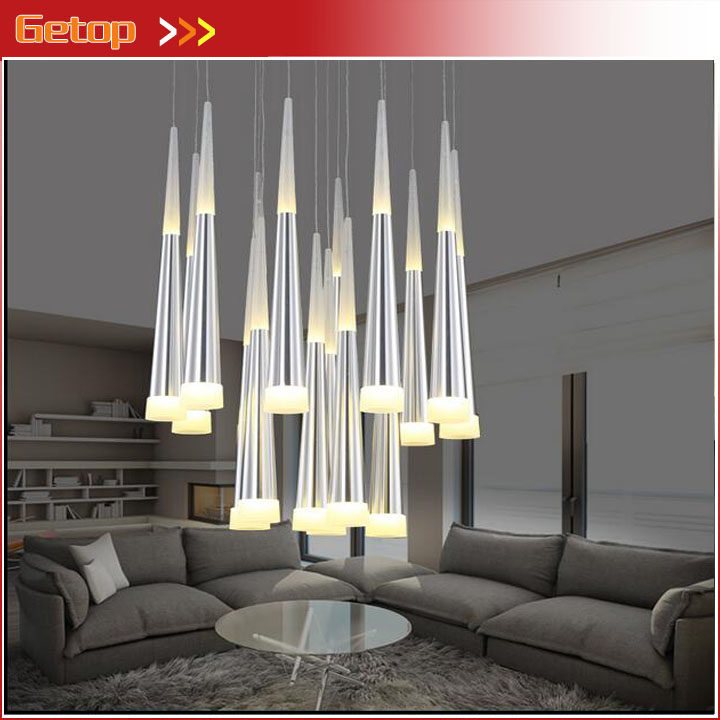 Modern Acryl Chandelier Individuality Meteor Shower LED Pendant Lamp Bar Cafe Restaurant Living Room Study Hanging Wire Light zx modern round acryl pendant lamp simple restaurant led chip droplight single head study bar shop office lamp free shipping