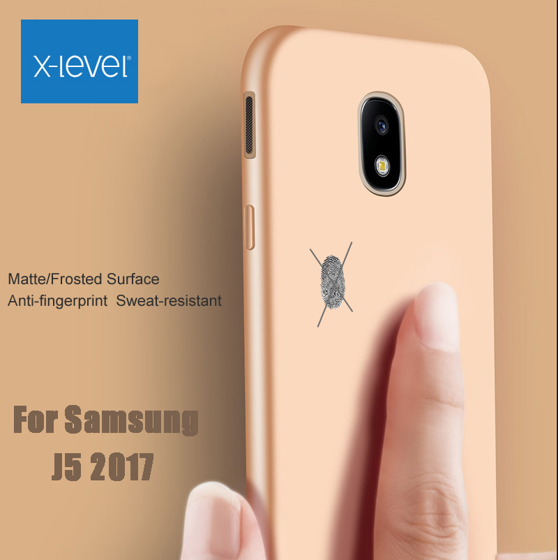 X-Level Ultra thin Silicone Cover Case For Samsung Galaxy J5 2017 J530F X Level Guardian Matte frosted TPU Protective J5 Pro