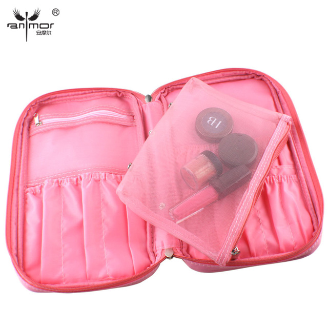 Beauty High Quality Zipper Brushes Bag Convenient Brush Pouch With Black Color and Pink Color