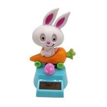 Украшение автомобиля игрушка на солнечной энергии танцующее животное кролик редис качели анимированная Танцующая игрушка Подарки креативный дом мультфильм детская игрушка