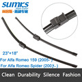 "Wiper blades for Alfa Romeo 159 Estate Saloon ( from 2005 onwards ) 23""+18"" fit side pin type wiper arms only"