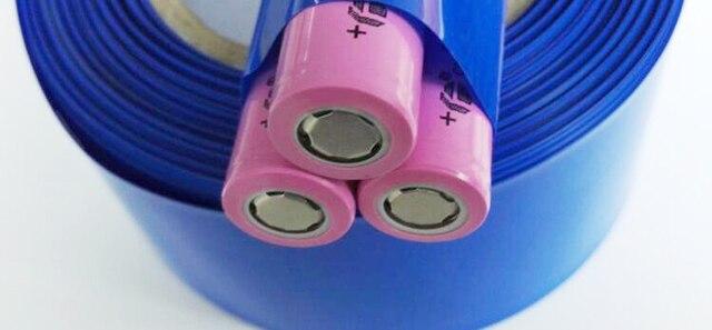 1 m 18650 bateria litowa rękaw płaszcza ciepła PVC termokurczliwa rurka folia termokurczliwa o różnych rozmiarach zmniejszyć płaszcza