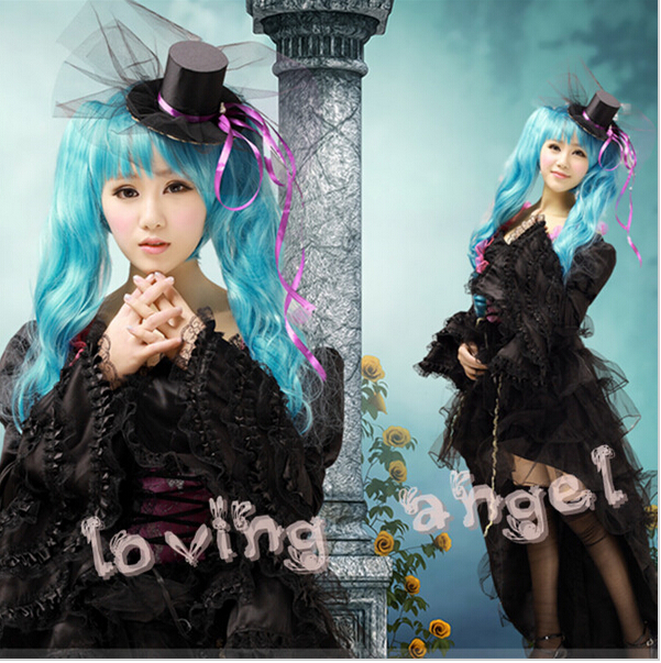 Vocaloid Hatsune Miku Cosplay Costume Black Dress S-XL Customized