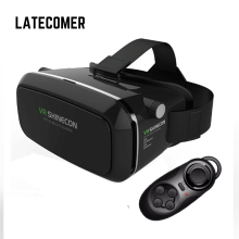 Latecomer Google Card board VR Box 3D Glasses Virtual Reality goggles Stereo feeling Movie Gaming + Controller Bluetooth