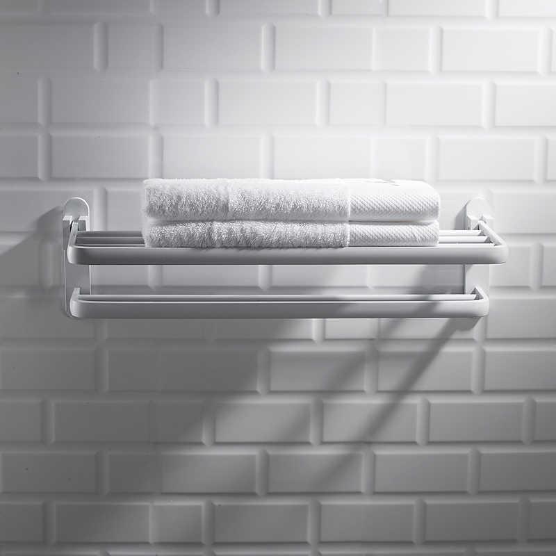 Nordic space aluminiowy wieszak na ręczniki perforowany biały półka łazienkowa wieszak na ręczniki zestaw wisiorków