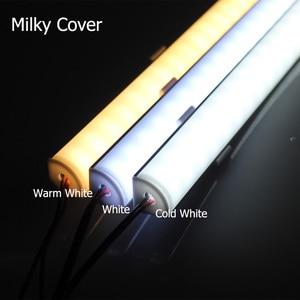 Image 4 - 5 قطعة/الوحدة 50 سنتيمتر LED بار ضوء 5730 فولت شكل الزاوية الألومنيوم الشخصي مع غطاء منحني ، جدار الزاوية ضوء DC12V ، LED إضاءة الخزانة