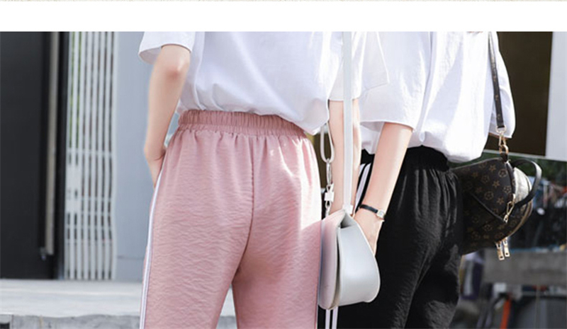 Fashion Casual Sweatpants Pants Side-Stripe Women Loose Elastic Waist Sportswear Women'S Pants New Bottoms 2019