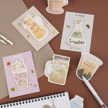 Get more info on the 8 pcs Enjoy drink sticky notes Milk Coffee Fruit bottle post memo pad Marker it stickers Stationery Office School supplies F134