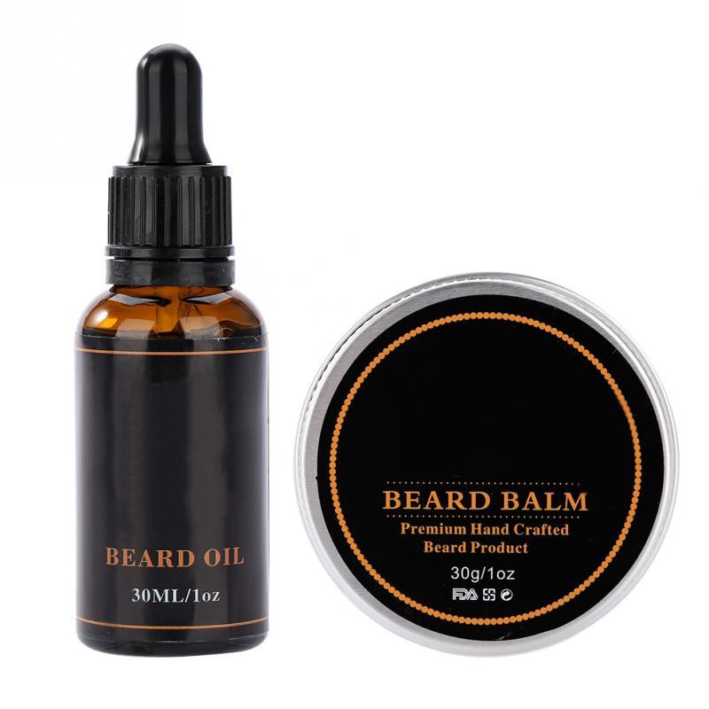Men's Beard Styling Shaping Mustache Hair Care Tool Beard Styling Beard Comb Balm Oil Grooming Set Mustache Hair Care Tool Kits 2