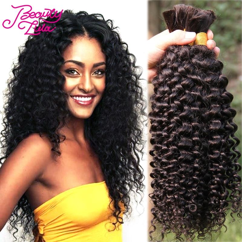 7A Malaysian Virgin Hair Curly Bulk Braiding Hair 100% ... - photo #10
