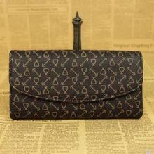 Lady bean Emilie kleine portemonnee, multi-knop, knop, lange envelop, eenvoudige vrijetijdsbesteding portemonnee.