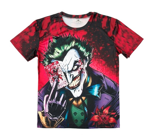joker 3d t shirt free shipping worldwide. Black Bedroom Furniture Sets. Home Design Ideas
