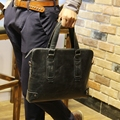 Tidog Crazy Horse Leather Bag Tote briefcase soft cross business men leather bag