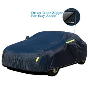 Image 3 - Универсальные чехлы для автомобиля снежная пыль Защита от солнца УФ тени темно синий Размер 9 размеров авто уличная Защитная крышка для автомобиля