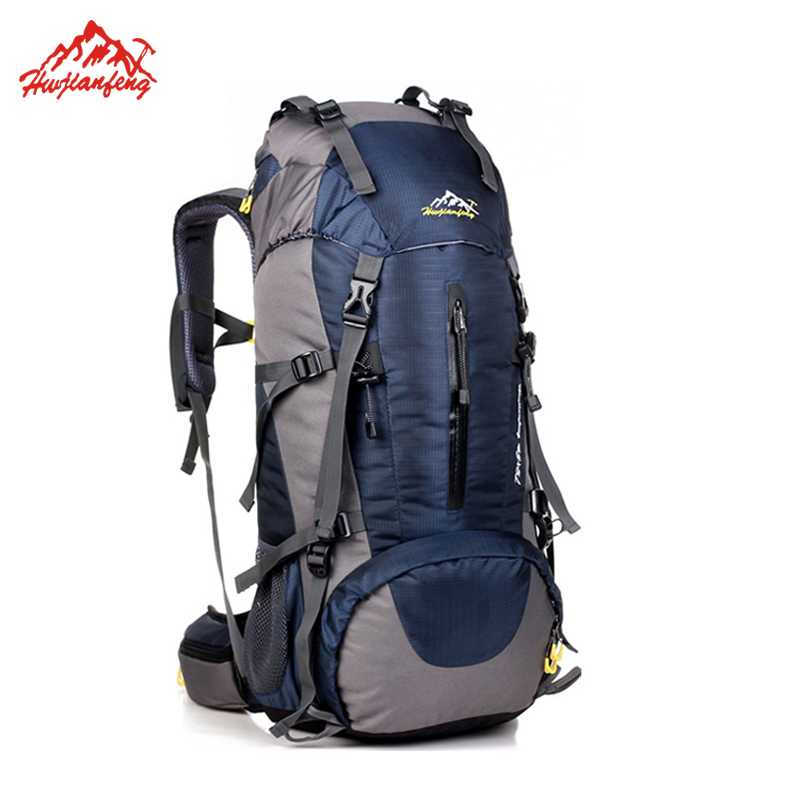 Waterproof Travel Hiking Backpack 50L, Sports Bag For Women Men, Outdoor Camping Climbing Bag, Mountaineering Rucksack 75l external frame support outdoor backpack mountaineering bag backpack men and women travel backpack a4809