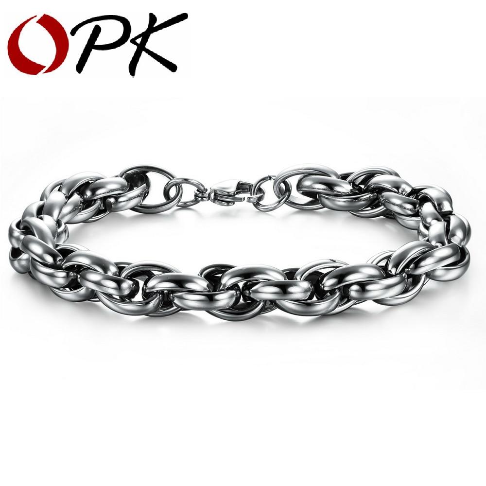 Titanium Steel link Chain Bracelet, Fashion Cable Bracelet.
