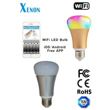 Xenon Smart Bulb Wireless wifi LED RGB Light Bulb Lamp Color Changing via WiFi App Control, Create a romantic atmosphere