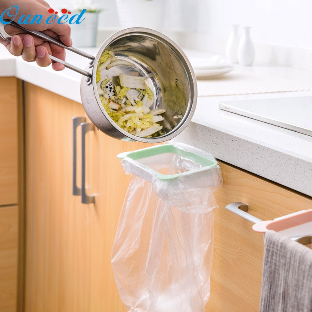 Fashion Heaven 100% brand Hanging Kitchen Cupboard Cabinet Tailgate Stand Storage Garbage Bags Rack Feature drop shipping Sep12