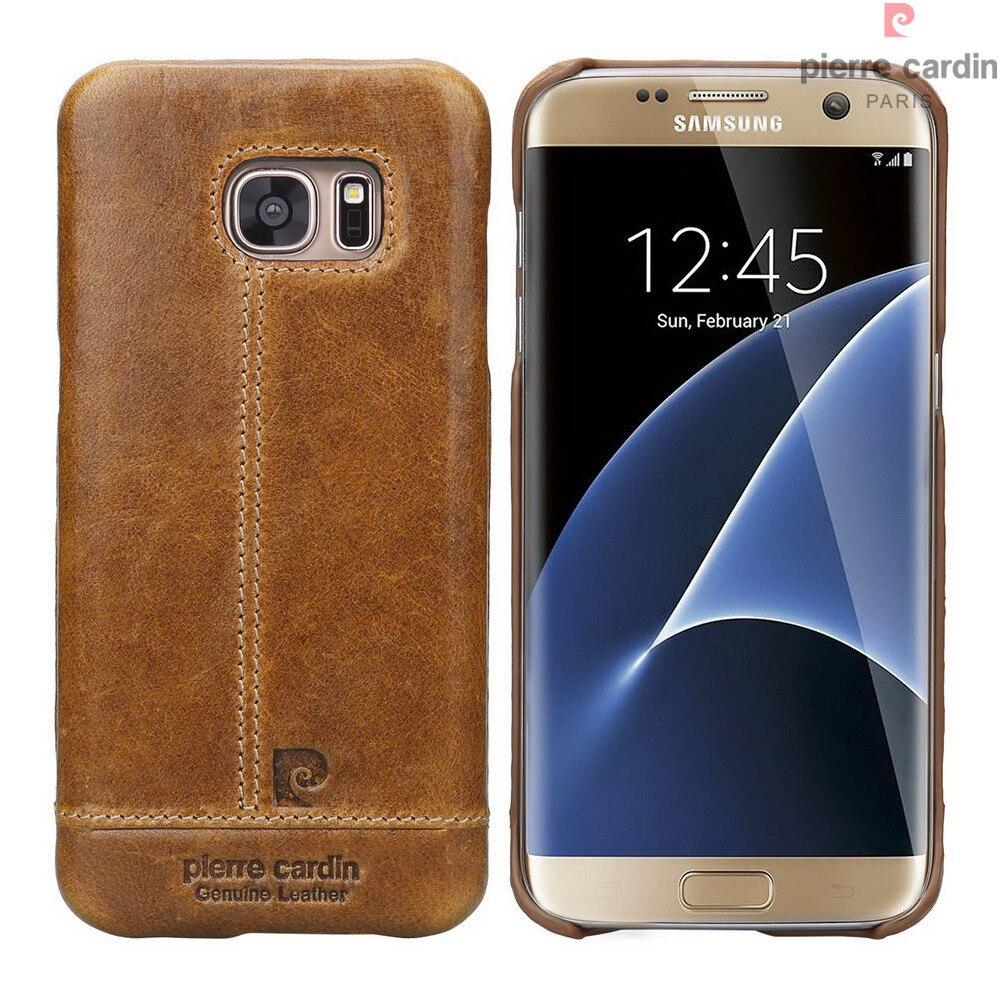 Цена за Оригинальный мобильный телефон случаях сумка для Samsung Galaxy S7 S7 край чехол Элитный бренд из натуральной кожи Твердый переплет аксессуары