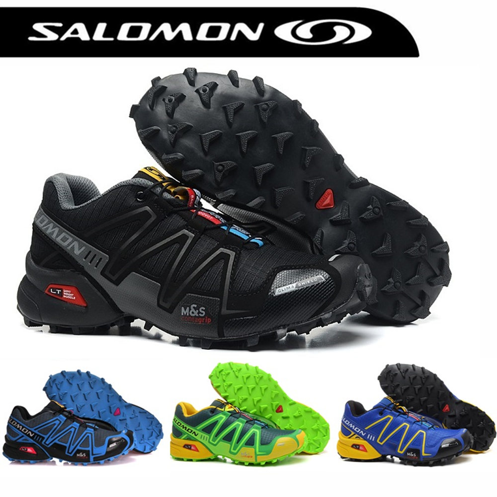 Salomon Cruz Velocidade 3 CS Homens Desporto Ao Ar Livre Sapatos Respirável  Sneakers 3 Speedcross zapatillas 9515825a62