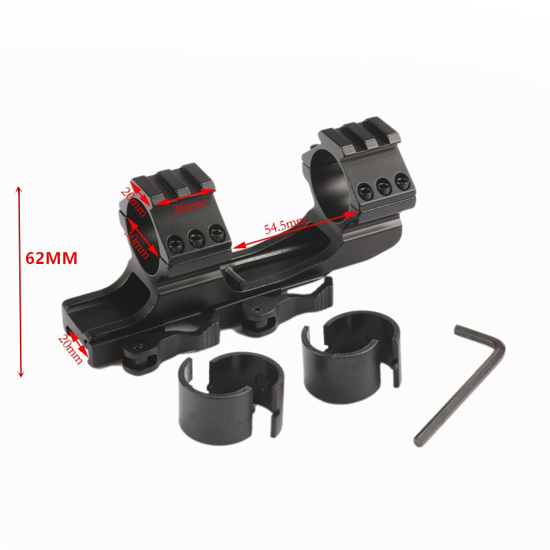 Quick Release Scope Mount 25.4mm 30mm Dual Ring Cantilever Rifle scope Mount Picatinny Weaver Rail Hunting Caza heavy duty cantilever weaver forward reach 1 inch 30mm ring rifle scope mount optics 11mm rail picatiiny pistol carabina