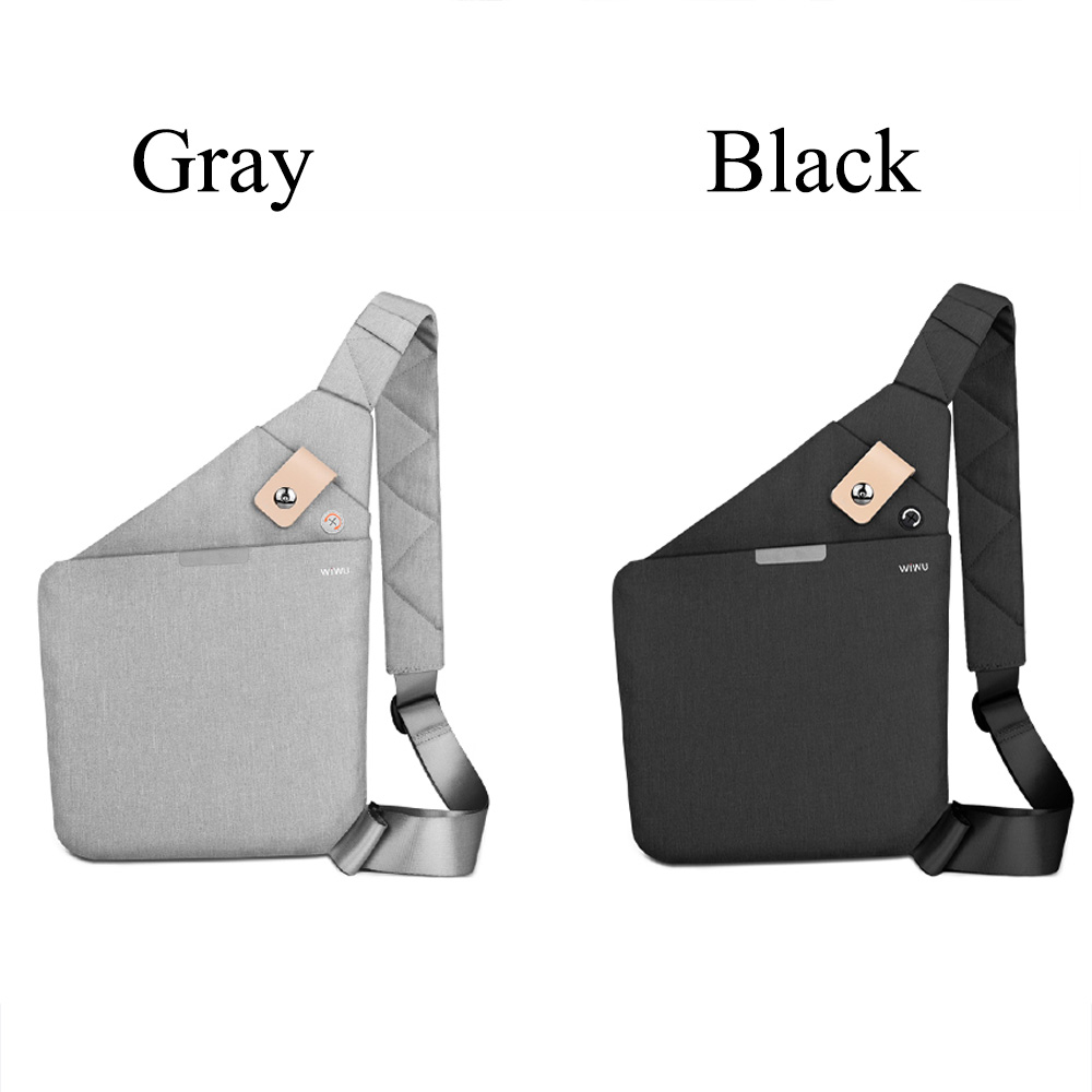 WIWU Cross-body Bag Water-proof Chest Travel Anti-theft Shoulder Bags 8