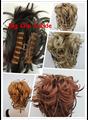16 Цветов Синтетические DIY Волосы Красный Белый Коричневый Черный Кос Шнурок Хвост Конский хвост Клип в/на Наращивание Волос шиньоны