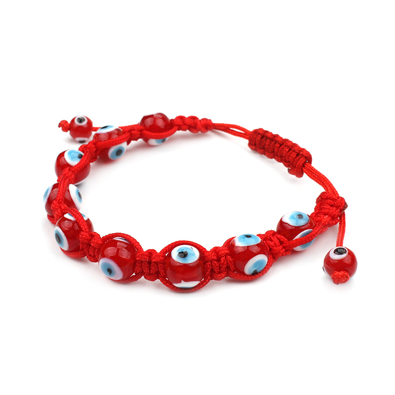 Evil Eye Fashion 1pc Clic Red Beads Bracelet Thread Braided Rope Chain Adjule For Women Men Jewelry In Strand Bracelets From