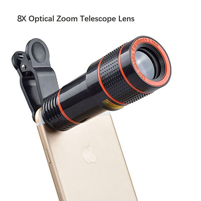 Cell Phone Camera Lens 8X Zoom Telephoto Universal Clip On