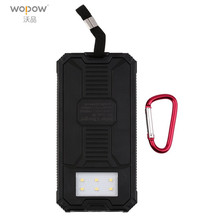 Wopow 10000mAh Solar Charger Portable Solar Power Bank Outdoors Emergency External Battery for Mobile Phone Tablets Light power