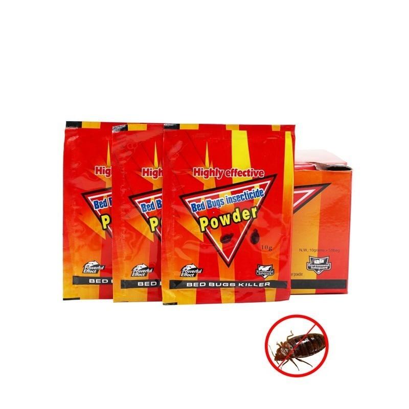 25pcs Bed Bugs Insecticide Killing Bed Bugs Fleas Lice Bait Drugs High Effective Bed Bug Killer Powder Bedbug Drug Pest Control
