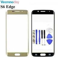 1pcs Front Outer LCD Touch Screen Lens Glass For Samsung Galaxy S6 Edge G925 G925F SM