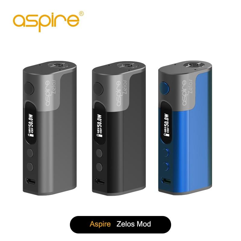 Original Aspire Zelos 50W Box Mod TC Battery Vape Mod 2000mah Built-in Lipo Battery VV VW TC Vaper Mode Electronic Cigarette