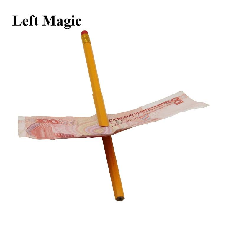 1pc Funny Close Up  Pen Penetration Through Paper Dollar Bill Money Trick Tool Magic Trick Tool Street Magic Show Children Gift