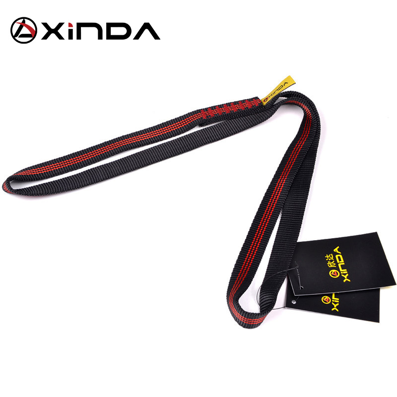 Professional Outdoor Rock Climbing Equipment Mountaineering Belt Support Protective Sling High Strength Wearable Polyester Belts