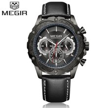 Top de Luxo Da Marca MEGIR Escalada Correndo Sports Watch Moda Casual relógios dos homens do Cronógrafo Luminous Quartz Relógio De Pulso Dos Homens Relógios(China)