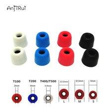 8 pcs/4 pairs T200 4.0mm M Caliber Ear Pads/cap Comply T200 memory ear foam eartips for in ear Headphones tips Sponge Ear cotton