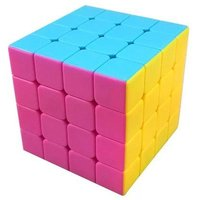 New. Moyu Aosu New Structure 4x4 Speed Cube Stickerless .High Bright (Pink)