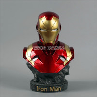 3 Colour 18 CM Resin Bust Iron Man Model Avengers 3 Infinity War Part I /II Collection Statue Iron Man Action Figure
