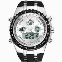 2017新しいブランド時計男性ミリタリースポーツ腕時計ファッションシリコーン防水ledデジタル時計男