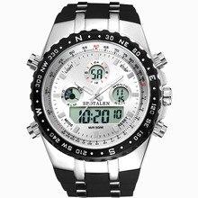 2017 Nuevo Reloj de Los Hombres Militar Deportes Relojes de Silicona de Moda A Prueba de agua LLEVÓ el Reloj Digital Para Hombres Reloj digital de reloj