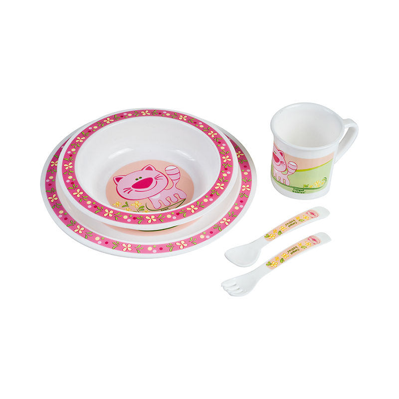 Dish Canpol Babies Plastic Dining Set Pink, 12 month + feedkid