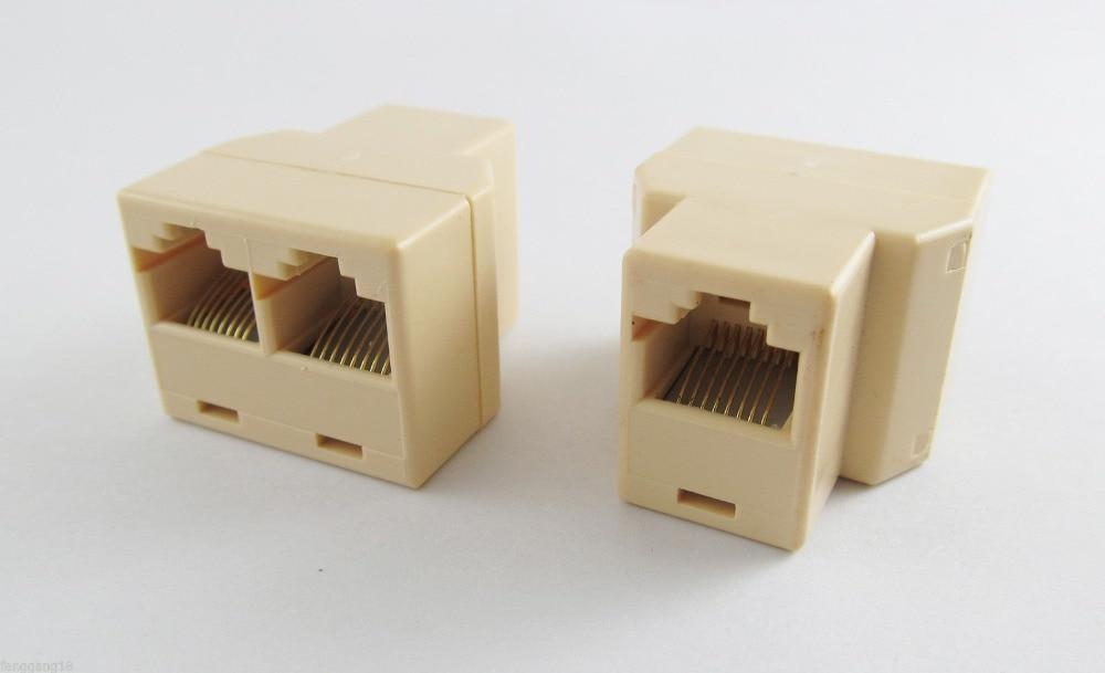5PCS RJ45 Cat5e Cat6 Ethernet Network 3 Way Cable Joiner Connector Coupler