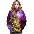 Digital Hoodies Long Sleeves Hoodie 3D Print Cartoon Punk Lizard Stretch Sweatshirt Women Pull Top Quality Clothing Streetwear