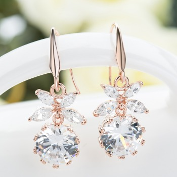 Fashion Crystal Drop Wedding Earrings for Women