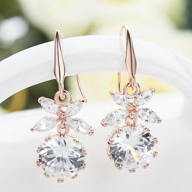 Fashion Crystal Drop Wedding Earrings for Women