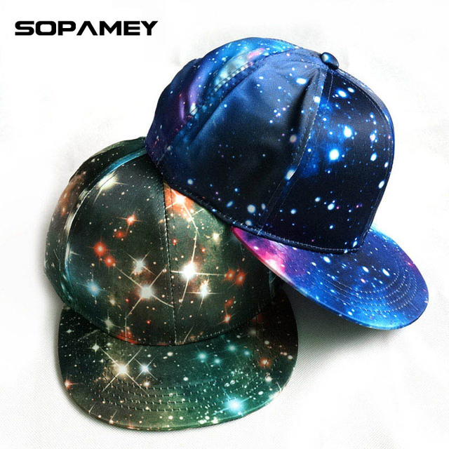 2017 Brand Snapback Hat Blue Space Gorras Hip Hop Women Men Hats Fashion Baseball Cap